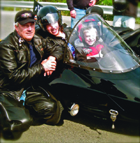 Mike Dimov, left, at a Ride for Life event.
