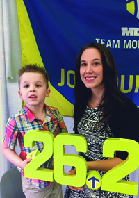 Michelle Bussiere and her son, David.
